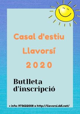 CASAL D'ESTIU LLAVORSÍ 2020