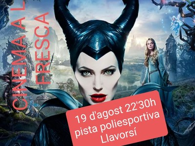 Cinema a la fresca Maléfica 19/08/2021 a les 22:30h pista poliesportiva