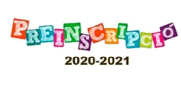 PREINSCRIPCIÓ ESCOLAR CURS 2020/2021